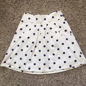 J. Crew Cotton Polka Dot Full Skirt Size 0!